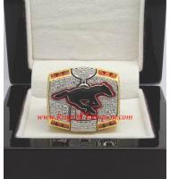 2008 Calgary Stampeders The 96th Grey Cup Championship Ring, Custom Calgary Stampeders Champions Ring