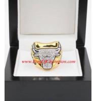 1996 - 1997 Chicago Bulls Basketball World Championship Ring, Custom Chicago Bulls Champions Ring