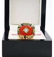 1981 Clemson Tigers NCAA Men's Football National College Championship Ring