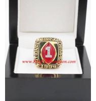 1994 Nebraska Cornhuskers Men's Football NCAA National College Championship Ring