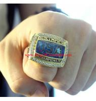 """2008 USA Olympics Basketball """"Redeem Team"""" Gold Medal Championship Ring, Replica Olympic Champions Ring"""