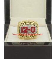 2012 Ohio State Buckeyes Men's Football Leaders Division College Championship ring