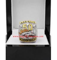 2015 Denver Broncos Super Bowl 50 World Championship Ring, Custom Denver Broncos Champions Ring