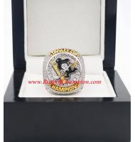 2015 - 2016 Pittsburgh Penguins  Stanley Cup Championship Ring, Custom Pittsburgh Penguins Champions Ring